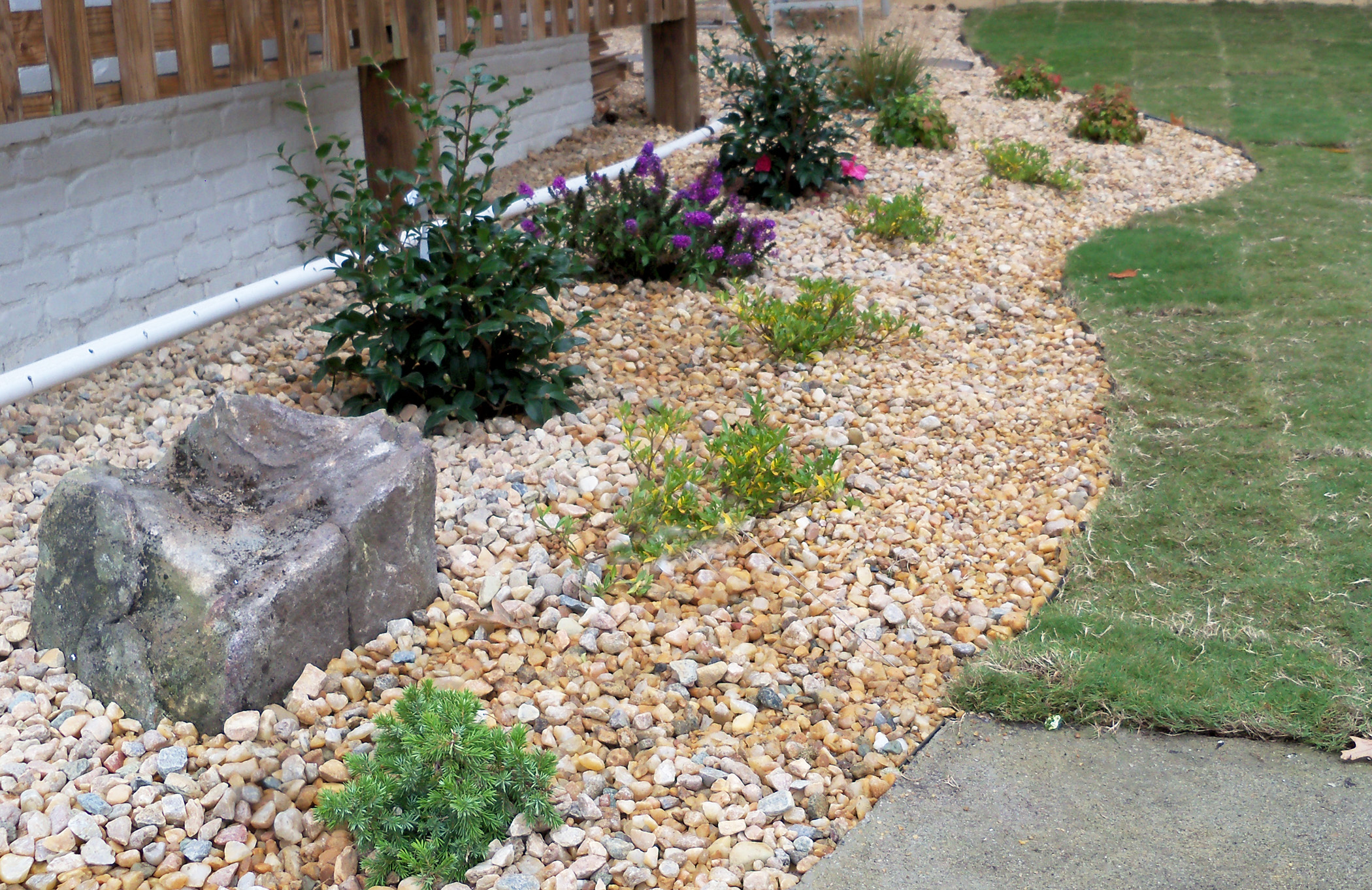 Natural Stone Rock Garden Retaining Wall Gravel Ideas