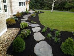 Spring Landscaping Ideas with Mulch and Stone , New England